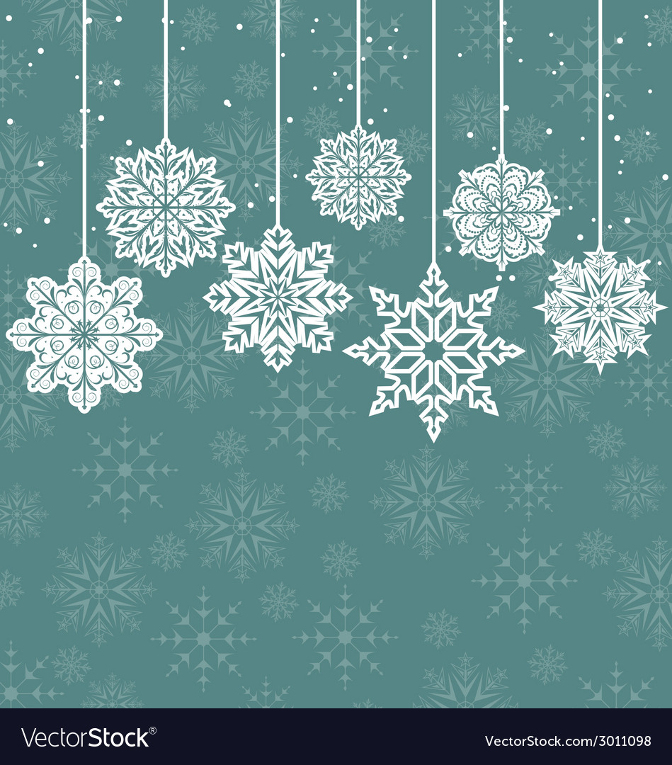 Christmas background with variation snowflakes vector | Price: 1 Credit (USD $1)