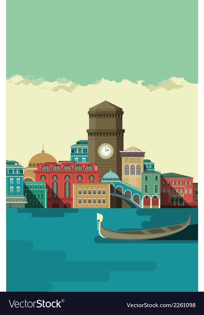 City on the river bank vector   Price: 1 Credit (USD $1)