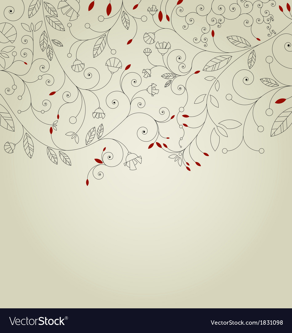 Cute floral background or invitation card vector | Price: 1 Credit (USD $1)