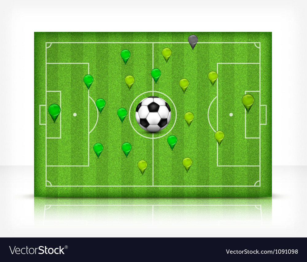Green playing field 10 v vector | Price: 1 Credit (USD $1)