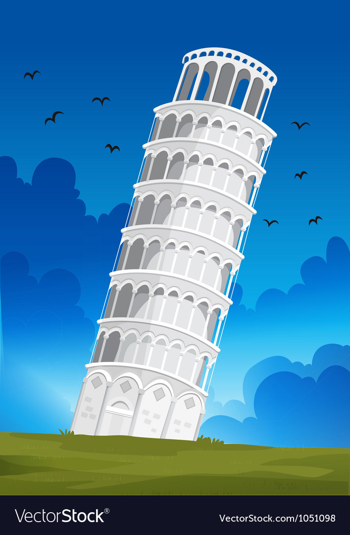 Leaning tower of pisa in italy vector | Price: 1 Credit (USD $1)