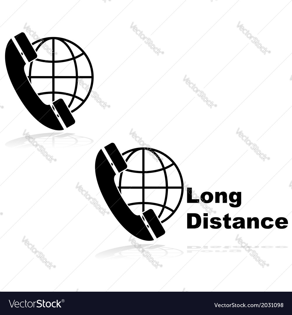 Long distance call vector | Price: 1 Credit (USD $1)