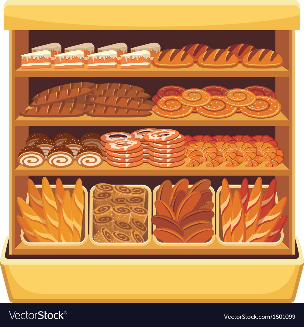 Bread showcase vector | Price: 3 Credit (USD $3)