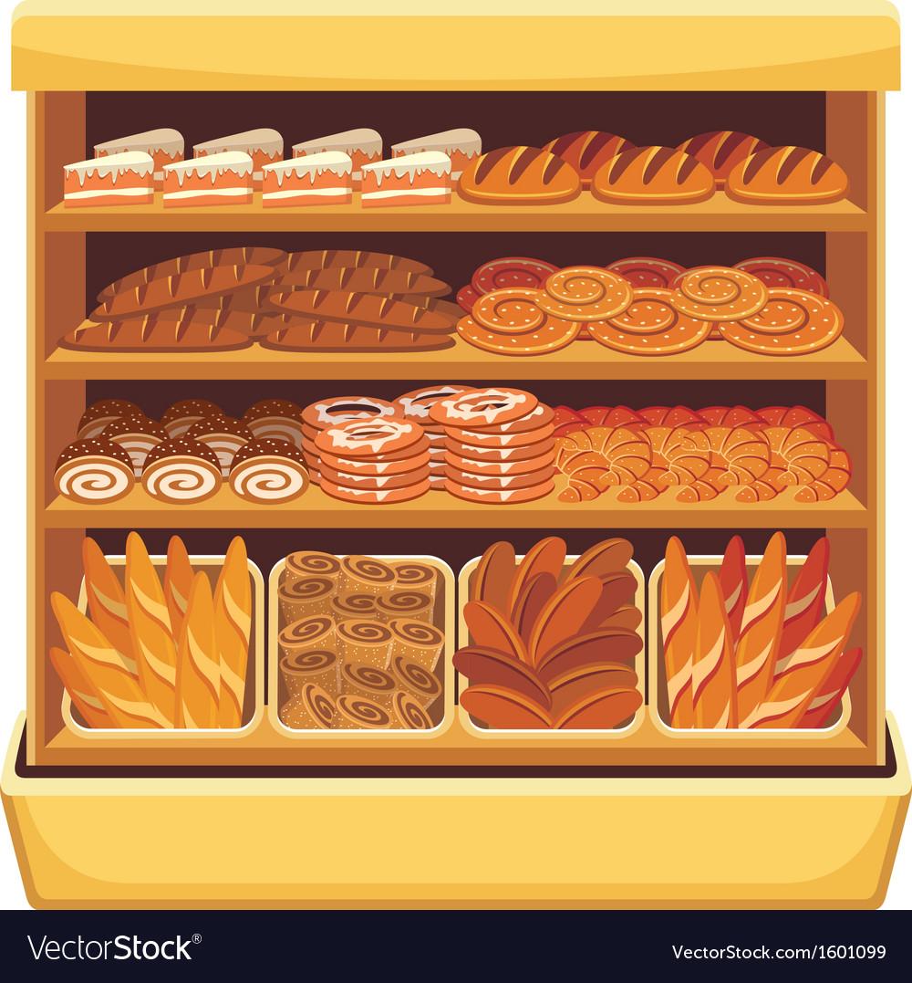 Bread showcase vector | Price: 3 Credit (USD $3)