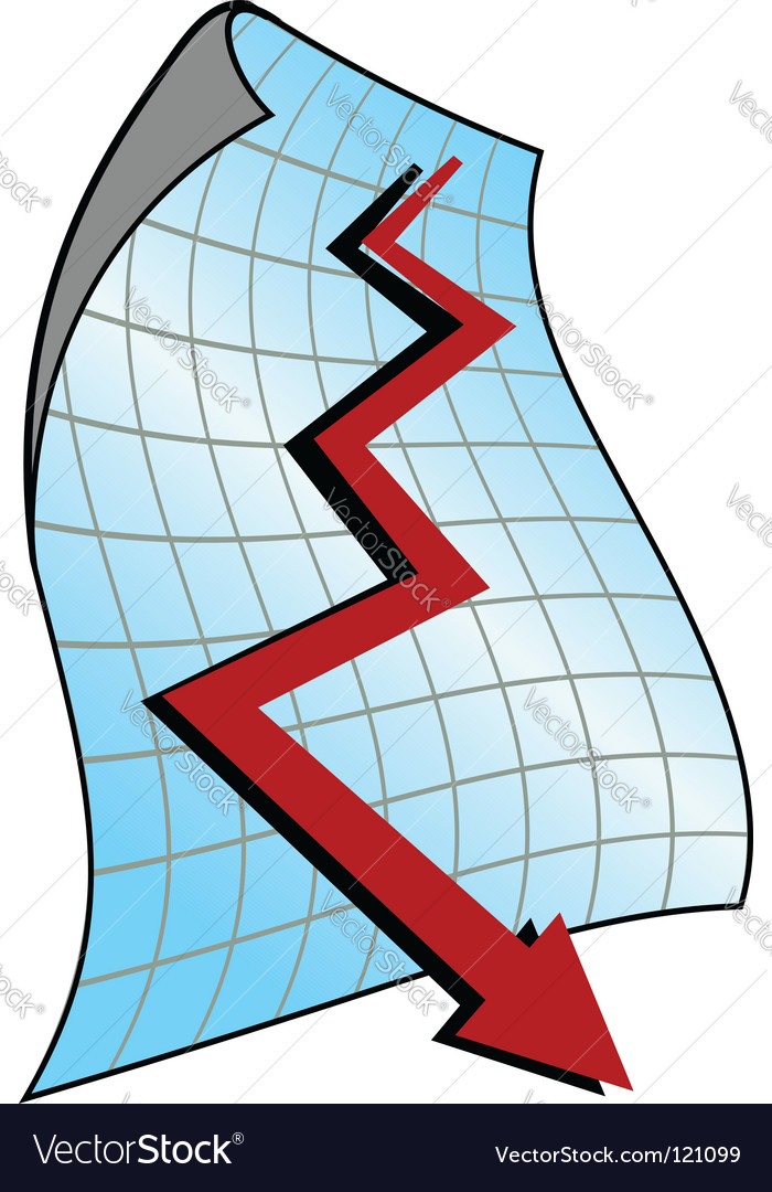 Down graph vector | Price: 1 Credit (USD $1)