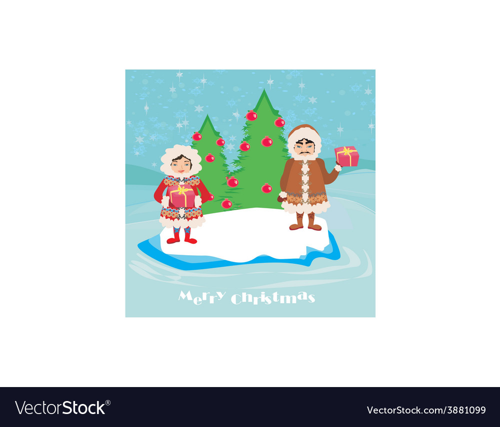 Eskimos holidays vector | Price: 1 Credit (USD $1)