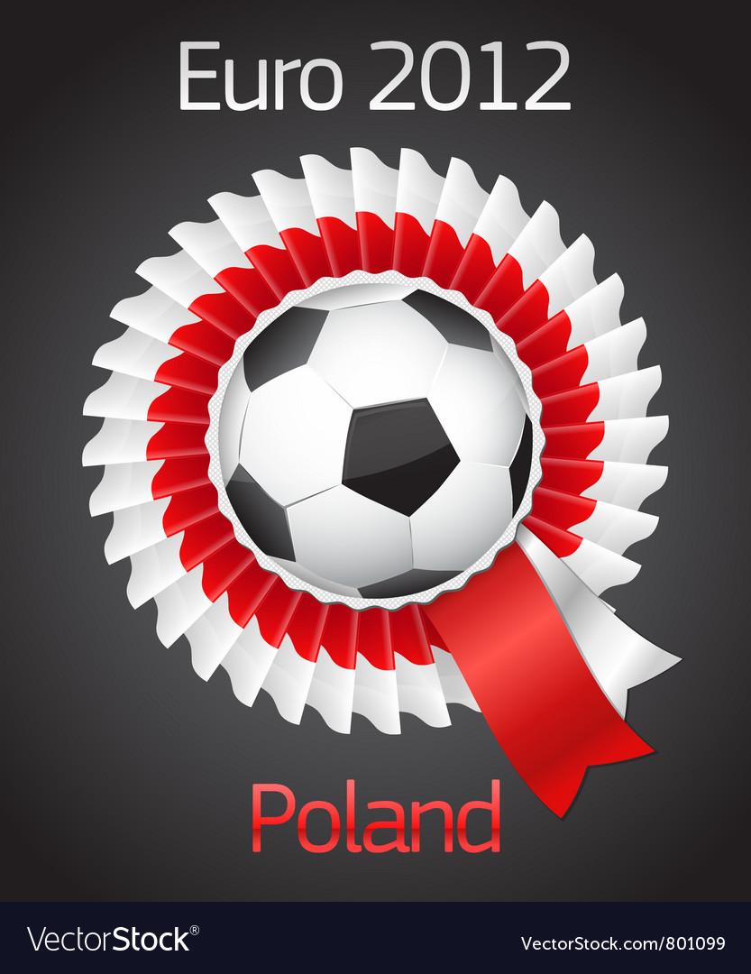 Football poland ukraine badge symbol vector | Price: 1 Credit (USD $1)