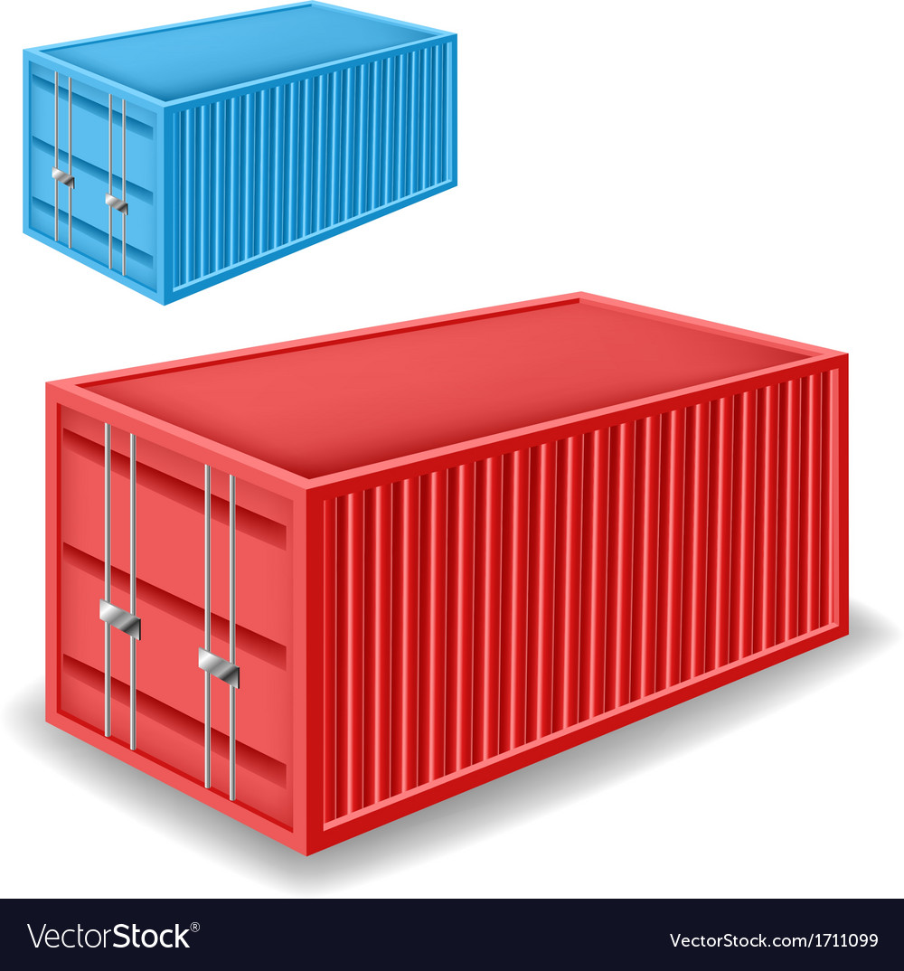 Freight container set vector | Price: 1 Credit (USD $1)