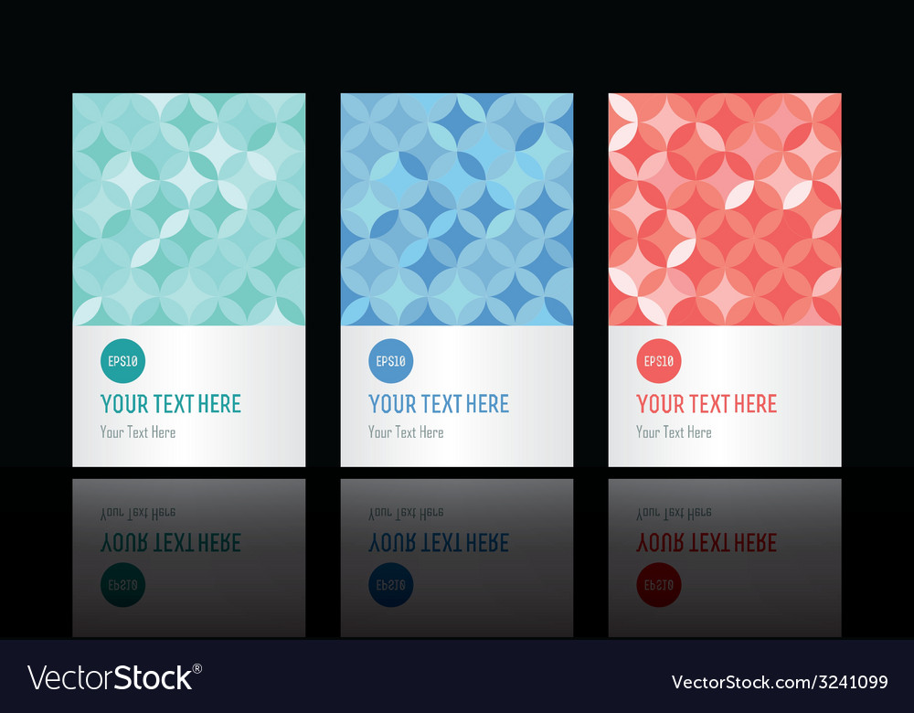 Geometric pattern set of cards vector | Price: 1 Credit (USD $1)