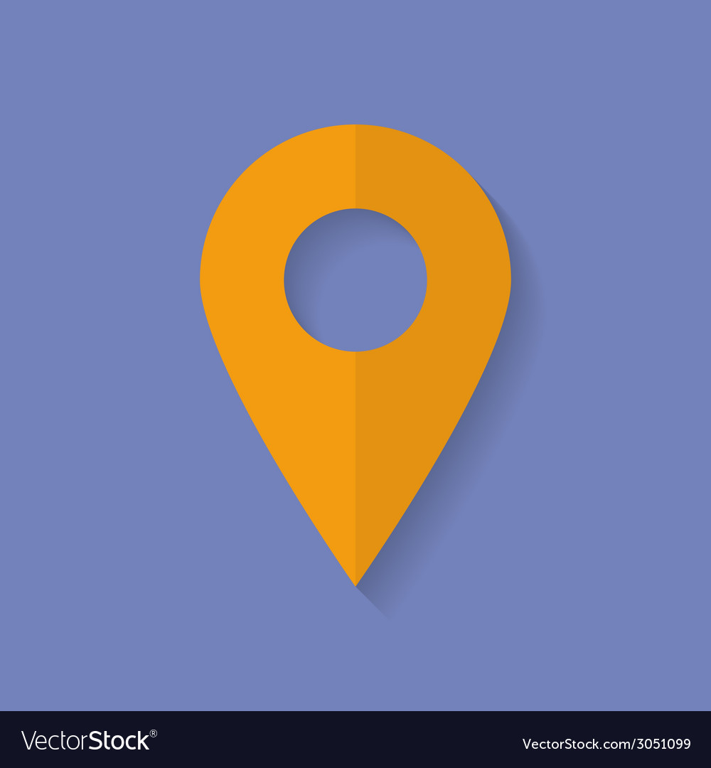 Icon of map pointer flat style vector | Price: 1 Credit (USD $1)