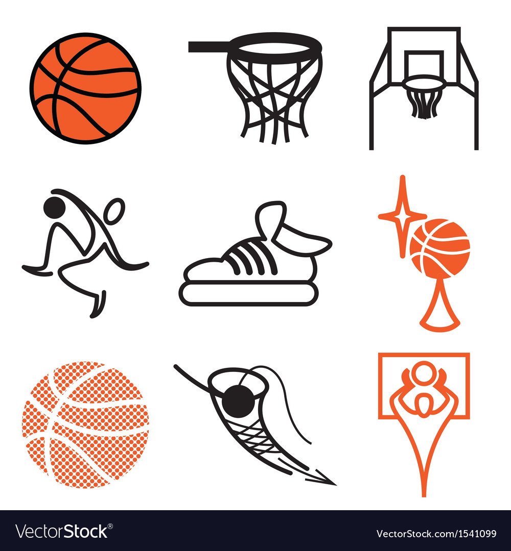 Logo icons basketball vector | Price: 1 Credit (USD $1)
