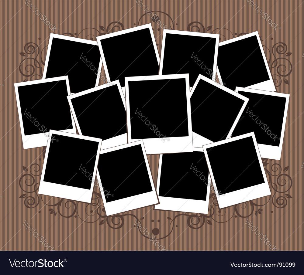 Polaroid frame vector | Price: 1 Credit (USD $1)