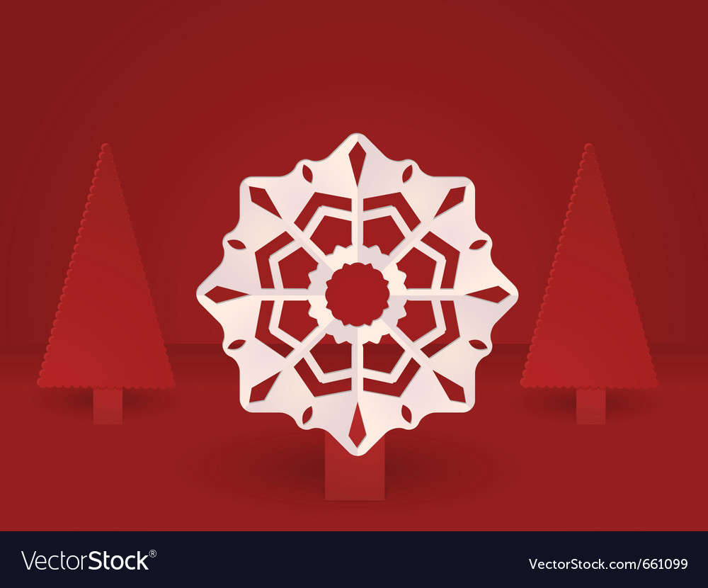 Pop up christmas snowflake vector | Price: 1 Credit (USD $1)