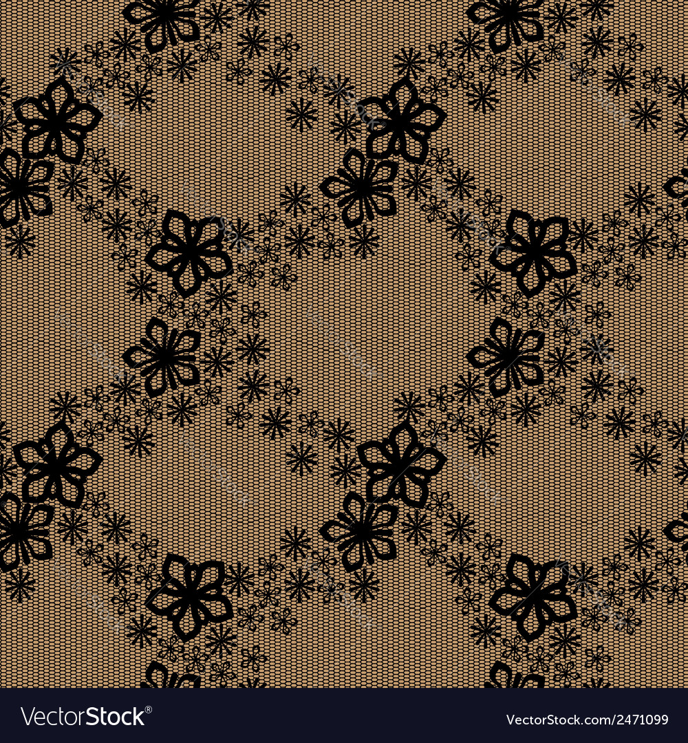 Seamless floral lace pattern vector | Price: 1 Credit (USD $1)