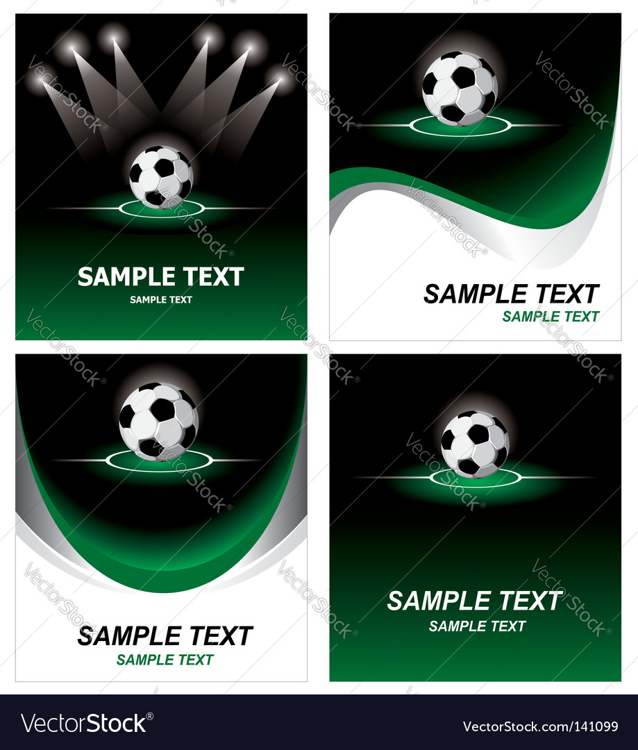 Set soccer background vector | Price: 1 Credit (USD $1)
