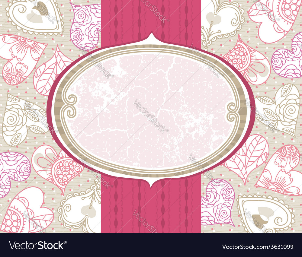 Valentine background with color hearts vector | Price: 1 Credit (USD $1)