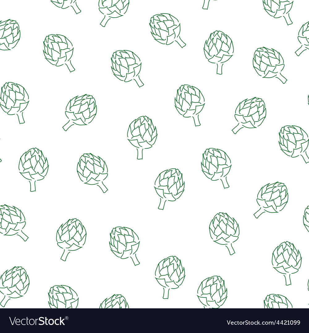 Vitamin artichoke doodle pattern for kitchen vector   Price: 1 Credit (USD $1)