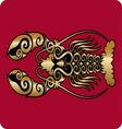 Golden lobster ornament vector