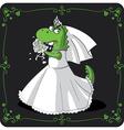 Bridezilla cartoon vector