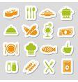 Restaurant stickers vector