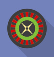 Roulette icon modern flat style with a long shadow vector