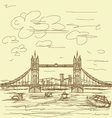 Tower bridge vintage vector