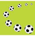 Football soccer ball frame flat design style vector
