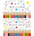 Back to school colored pencils vector