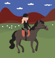 Young girl rider vector