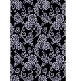 Black roses seamless pattern vector