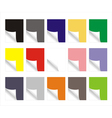 Blank colorful paper sheets vector