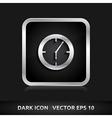 Clock icon silver metal vector