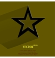 Star web icon flat design vector
