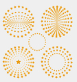 Set of star circle vector