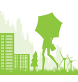 Ecological city landscape background vector