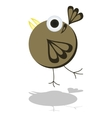 Funny little cartoon bird vector