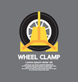 Wheel clamp side view vector
