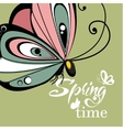 Flying butterfly lettering background vector