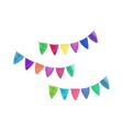 Multicolored garlands watercolor object on the vector