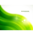 Light glittering green wave background vector
