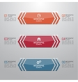 Modern shiny banner with numbers and signs vector