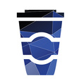 Coffee icon abstract triangle vector