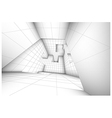 3d futuristic labyrinth shaded interior vector