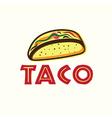 Mexican taco vector