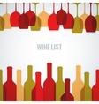 Wine glass bottle art background vector