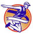 Marathon runner shield vector