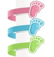Baby feet labels vector