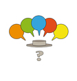 Question mark and speak bubbles vector