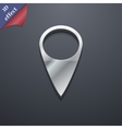 Map pointer icon symbol 3d style trendy modern vector