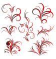 Set of flower pattern tattoo vector